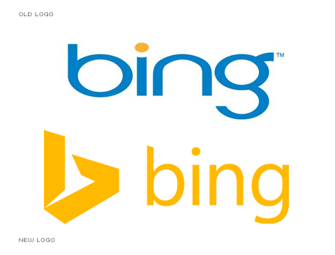 Bing logo - old and new