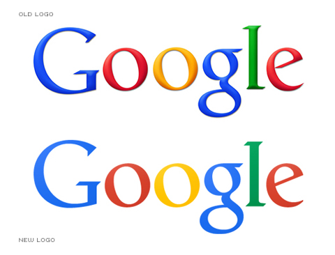 Google logo - old and new