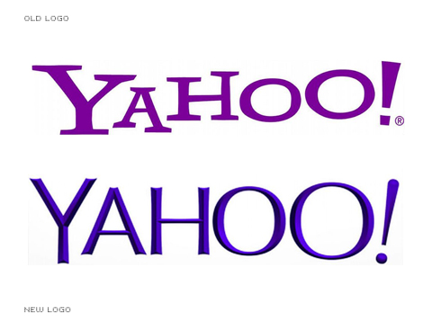 Yahoo logos - old and new